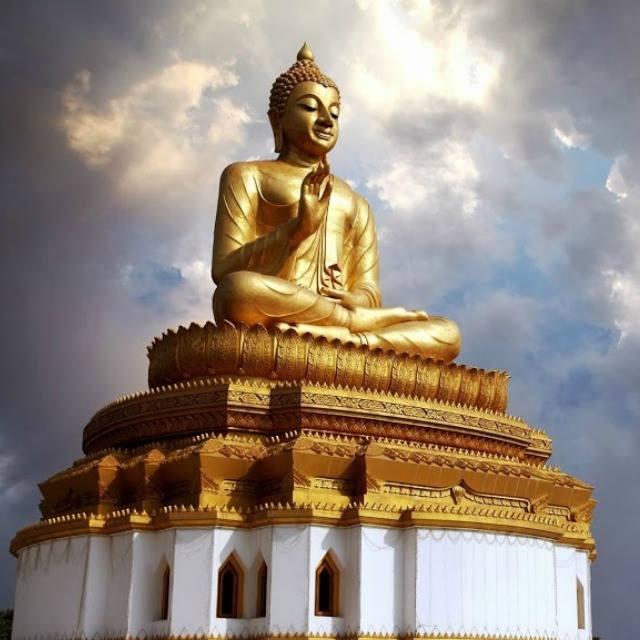 Buda Oro The golden glow of the Buddha